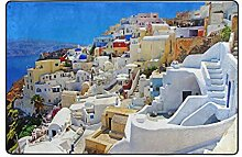 LUPINZ Teppich mit schönem griechischen Santorini