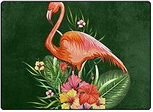 LUPINZ Teppich mit schönem rotem Flamingo-Vogel