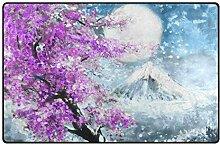 LUPINZ Teppich mit schönen Sakura und