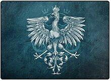 LUPINZ Teppich mit Vogel-Adler-Muster, rutschfeste