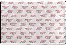 LUPINZ Teppich mit Wassermelonen-Muster,