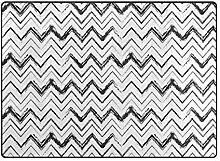 LUPINZ Teppich mit Wellenlinienmuster, rutschfeste