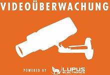 Lupus Aufkleber Videoüberwachung