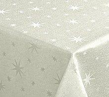 Lurex Sterne Tischdecke, Gold oder Silber