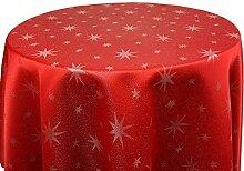 Lurex Tischdecke Sterne Farbe & Größe wählbar -