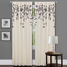 Lush Decor Blume Drop Querbehang, violett, Curtain