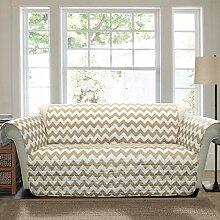 Lush Decor Chevron Möbelschutz, Sofa, taupe