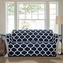 Lush Decor Geo Furniture Protector, Loveseat, Navy