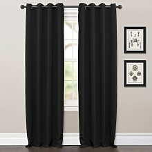 Lush Decor Jamel (Gägelow) Fenster Vorhang, schwarz, 2Stück