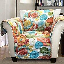 Lush Decor Layla Bettüberwurf/Möbel Displayschutzfolie für Sessel, orange/blau