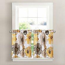 "Lush Decor Leah Verdunkeln Fenster Vorhang Panel Paar, Gelb/Grau, 26"" x 24"