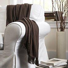 Lush Decor Pamela dekorativer Überwurf-Decke, 50von 152,4cm, braun