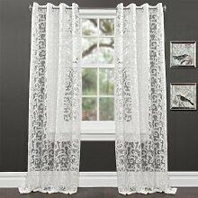 Lush Decor Rayna Fenster Vorhang, weiß