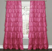 Lush Decor Rüsche Fenster Vorhang, Pink