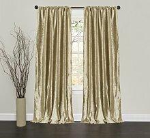 Lush Decor Samt Dream Fenster Vorhang Panels, 84, 102cm, gold, Set von 2