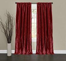 Lush Decor Samt Dream Fenster Vorhang Panels, 84von 102cm, rot, 2Stück