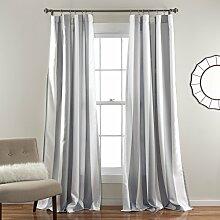 Lush Decor Wilbur Blackout Window Curtain Panel, grau, 84 x 52
