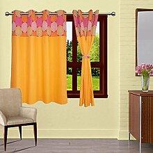 lushomes ausgekleidet Blackout Tür / Fenster dekorativ Öse orangefarbenen Vorhängen drapers 1 Stück Spirale