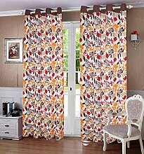 lushomes ausgekleidet Blattdruck Hauptdekor Vorhänge Tür / Fenster-Öse drapers - Größe verfügbar