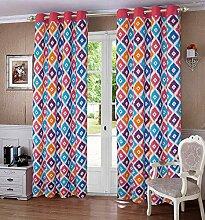 lushomes ausgekleidet drapers Tür- / Fenster Öse geometrische dekorative Vorhänge - Größe verfügbar