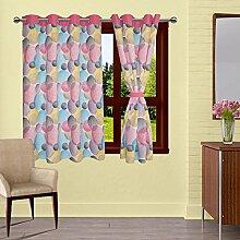 lushomes ausgekleidet Tür- / Fenster Öse dekorative Vorhänge Kreise drapers - Größe verfügbar