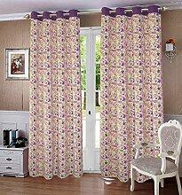lushomes ausgekleidet Verdunklungsvorhänge Tür- / Fenster Öse Blumen drapers - Größe verfügbar