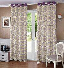 lushomes Blumen gesäumt Vorhänge Tür / Fenster-Hauptdekor Vorhang Öse drapers - Größe verfügbar