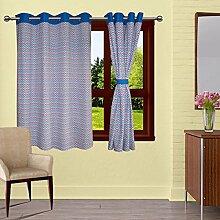 lushomes Diamanten gesäumt drapers Luxus Vorhang Tür / Fenster-Öse Vorhänge - Größe verfügbar