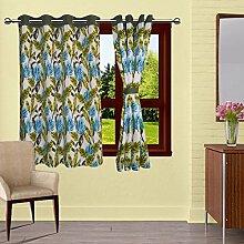 lushomes drapers ausgekleidet Tür- / Fenster Öse Blattdruck Luxus Vorhänge - Größe verfügbar