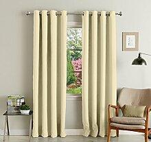 lushomes Ebene Blackout Tür- / Fenster Öse Luxus Vorhänge feste Muster drapers - Satz von 2 Stück