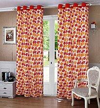 lushomes fertige Vorhänge floral gezeichnet Tür- / Fenster Öse drapers - Größe verfügbar