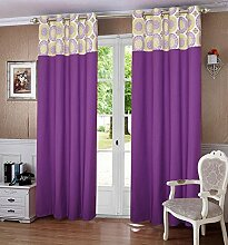lushomes gefüttert Blackout Tür- / Fenster Öse lila dekorative Vorhänge und drapers 1 Stück