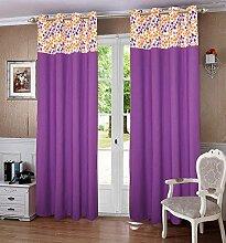 lushomes gefüttert Blackout Tür- / Fenster Öse lila dekorative Vorhänge drapers 1 Stück Schatten
