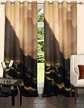 lushomes gefüttert Blackout Tür- / Fenster Öse Luxus Vorhänge Berg drapers - mehrfarbig