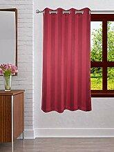 Lushomes Polyester-Streifen 8 Ösen Drapers Fenster / Tür Vorhang - Wählen Sie Größe