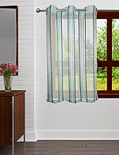 Lushomes Polyester Transparenter Streifen Vorhänge Eyelet Drapierung Fenster / Tür Vorhänge