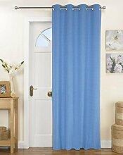 Lushomes Solid Baumwolle Tür / Fenster Vorhänge 8 Ösen Tuchmacher - Größe wählen