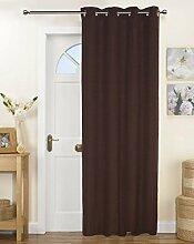 Lushomes Solid Baumwolle Vorhänge Tür / Fenster 8 Ösen Tuchmacher - Größe wählen