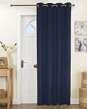 Lushomes Solid Gardinen Baumwolle Tür / Fenster 8 Ösen Tuchmacher - Größe wählen