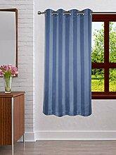 Lushomes Streifen Polyester 8 Oesen Drapers Fenster / Tür Vorhang - Wählen Sie Größe
