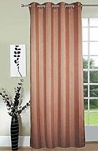 Lushomes Streifen Polyester Fenster / Tür-Vorhang-8 Oesen Drapers - Wählen Sie Größe