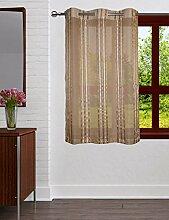 Lushomes Streifen Transparenter 6 Oesen Drapers Polyester Fenster / Tür Vorhänge