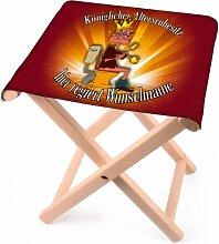 Lustapotheke® lustiger Klappstuhl aus Holz mit