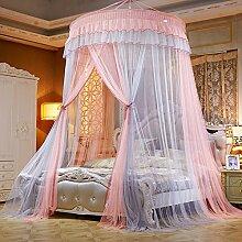LUSTAR® Prinzessin-Moskito-Netz-Hauben-Bett-Überdachung Für Kinder-Fliegen-Insekten-Schutz Innen/Dekorative Höhe Im Freien 2.7m Einzelne Tür,Grey-OneSize