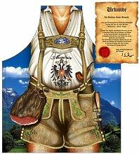 lustig bedruckte Bayern Grill und Kochschürze: