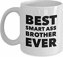 Lustige beste kluge Esel-Bruder-überhaupt Tasse,