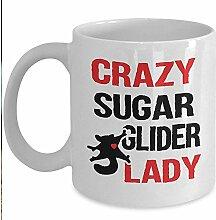 Lustige Beuteltasse - Crazy Sugar Glider Lady