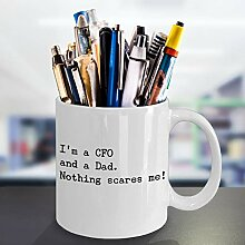 Lustige CFO Dad Kaffeetasse, bester Chef,