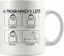Lustige Computerprogrammierer Leben bei der Arbeit