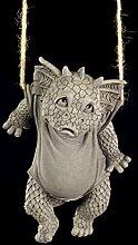 Lustige Drachen Figur für den Garten - Waschtag